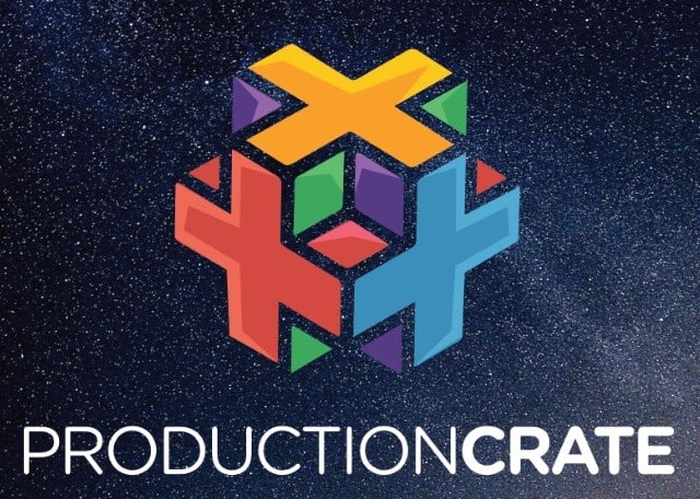 the best free software productioncrate logo on dark background