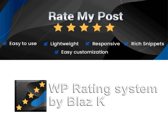 rate my post pro rating system free plugin logo