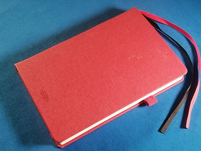 red planner cover
