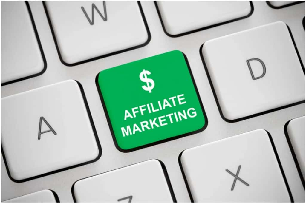 affiliate marketing for beginners green button