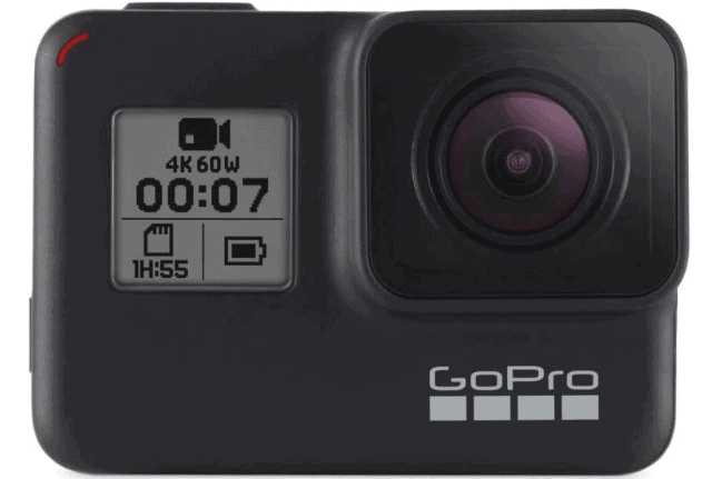 gopro action camera front panel