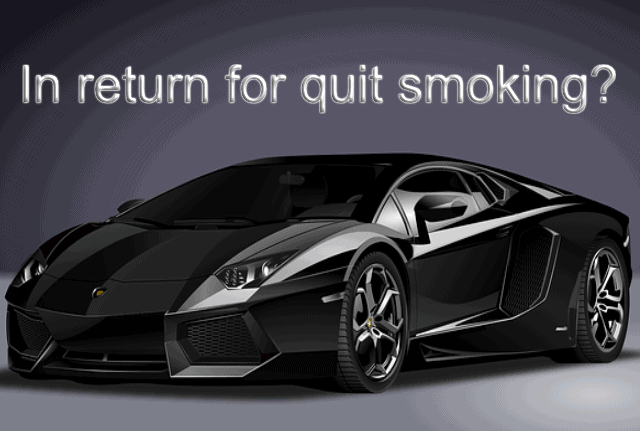 how to quit smoking luxury black sports car