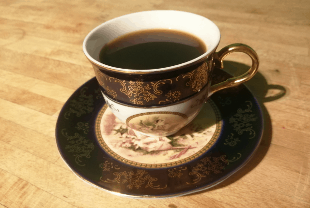 perfect morning cup of coffee