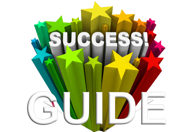 success guide multi-color sign